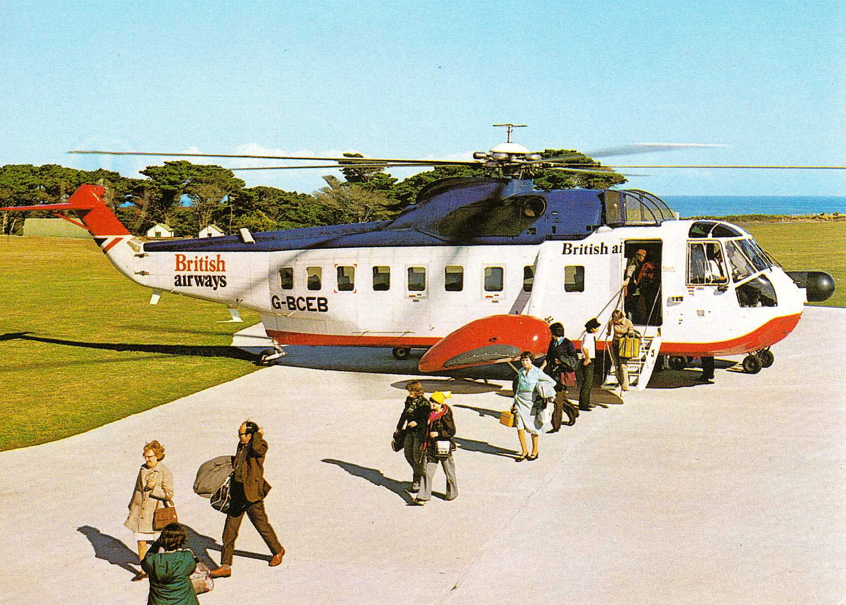British Airways Helicopters  PenzanceIsles Of Scilly 19751978  A Collecti