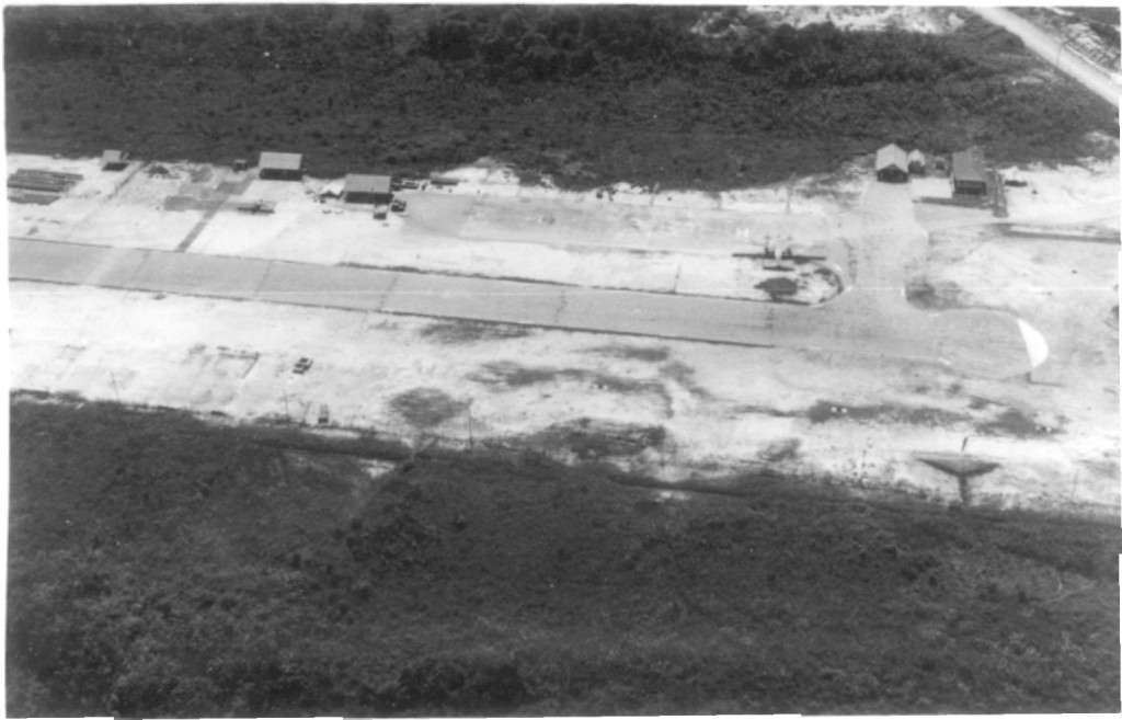 Simmanggang Airstrip with 225 Squadron flight office left of centre